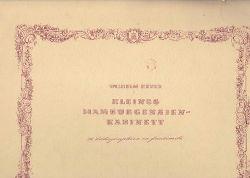 Heuer, Wilhelm  Kleines Hamburgensien-Kabinett.,36 Lithographien en facsimile.