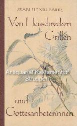 Fabre, Jean-Henri  Von Heuschrecken, Grillen und Gottesanbeterinnen.,Jugendbücherei Erlebte Welt, Band 9.