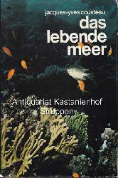 Cousteau, Jacques-Yves  Konvolut 13 Fischbücher. 1. Das lebende Meer. Ungekürzte Sonderausgabe.,2. Ich tauche nach Schätzen. 3. Die schweigende Welt.