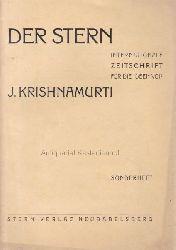 Krishnamurti, J.  Der Stern.,Internationale Zeitschrift für die Ideen von J. Krishnamurti.