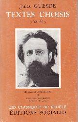 Guesde, Jules  Textes choisis, 1867-1882.,Les Classiques du peuple.