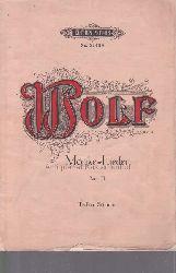 Mörike, Eduard  Wolf. Mörike-Lieder, Band III. Tiefere Stimme. 8990. 8991.,Edition Peters 3142b. Gedichte von Eduard Mörike, für eine Singstimme und Klavier.