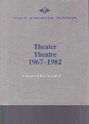 Linke, Manfred; Jahnke, Manfred; Koch, Gerhard R.; Michaelis, Rolf und andere  Theater, Theatre, 1967-1982.,Internationales Theaterinstitut e.V., Band 2.