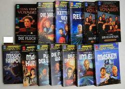 Gerrold, David u.a.  Konvolut 13 Bücher: Star Trek, Die nächste Generation/Star Trek Voyager,1, Gerrold: Mission Farpoint; 2, Deweese: Die Friedenswächter; 6, David: Planet der Waffen; 7, Weinstein: Machthunger;