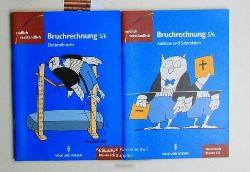 Henning, Herbert (Hrsg.)  Konvolut zwei Hefte: Mathematik Klassen 5/6,1. Bruchrechnung, Teil III, Dezimalbrüche; 2. Teil I, Addition und Subtraktion