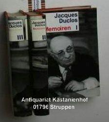 Duclos, Jacques  Konvolut drei Bücher: Memoiren,I: 1896-1939; II: 1940-1945; III: 1945-1969