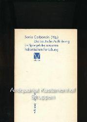 Carboncini, Sonia [Hrsg.]  Die deutsche Aufklärung im Spiegel der neueren italienischen Forschung