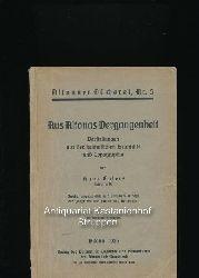 Ehlers, Hans  Aus Altonas Vergangenheit,Darstellungen aus der heimatlichen Geschichte und Topographie
