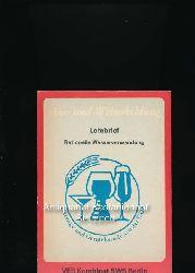 Ackermann, R.; Ott, B.  Rationelle Wasserverwendung in der Gärungs- und Getränkeindustrie,Lehrbrief