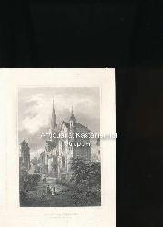 Der Tempelherrnhof in Bacharach am Rhein - Original-Stahlstich,Aus d. Kunstanst. d. Bibliogr. Instit. in Hildbhsn.