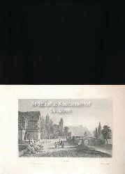 Sayn - Original-Stahlstich,Aus d. Kunstanst. d. Bibliogr. Instit. in Hildbh.