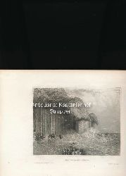 Die Fingals-Höhle - Original-Stahlstich,Aus d. Kunstanst. d. Bibliogr. Instit. in Hildbh. Links oben: CCCXXX.