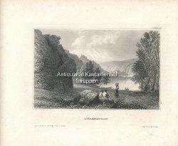 Dürenstein - Original-Stahlstich,Aus d. Kunstanst. d. Bibliogr. Instit. in Hildbh. Oben rechts: CCXXXXV.