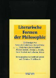 Gabriel, Gottfried; Schildknecht, Christiane [Hrsg.]  Literarische Formen der Philosophie,Mit Beiträgen von Soraya de Chadarevian u.a.