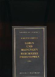 Laertius, Diogenes  Konvolut zwei Bände: Leben und Meinungen berühmter Philosophen,Buch I-VI, Buch VII-X, übersetzt aus dem Griechischen von Otto Apelt