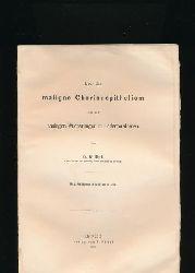 Risel, Wilhelm  Über das maligne Chorionepitheliom und die analogen Wucherungen in Hodenteratomen,2 Abbildungen, 3 Tafeln