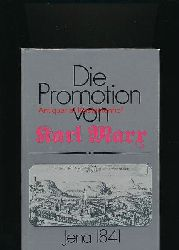 Lange, Erhard u.a.  Die Promotion von Karl Marx - Jena 1841,Eine Quellenedition