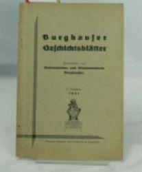 Stadtmuseums- und Altertumsverein Burghausen (Herausgeber)  Burghauser Geschichtsblätter,,21. Jahrgang, 1931