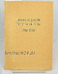 50 Jahre Isartalverein,1902-1952, Jahresbericht 1952