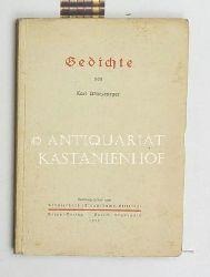 Würzburger, Karl  Gedichte,Herausgegeben vom Künstlerdank (Clauß-Rochs-Stiftung)