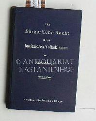 Menger, Anton  Das  bürgerliche Recht und die besitzlosen Volksklassen,4. Auflage, 5. Tausend