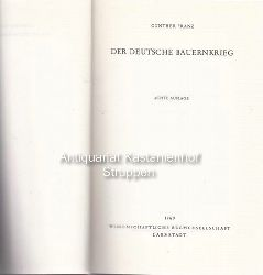 Franz, Günther  Der deutsche Bauernkrieg.,Achte Auflage.