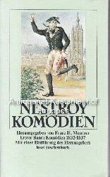 Nestroy, Johann  Komödien. 3 Bände. Herausgegeben von Franz H. Mautner.,Erster Band: Mit einer Einführung des Herausgebers. Komödien 1832 - 1837.