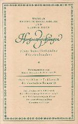 Wackenroder, Wilhelm Heinrich ; Tieck, Ludwig; Borcherdt, Hans Heinrich  Herzensergiessungen eines kunstliebenden Klosterbruders.