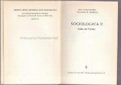 Horkheimer, Max; Adorno, Theodor W.  Sociologica II. Reden und Vorträge.,Frankfurter Beitärge zur Soziologie, Band 10.