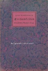 Brandenburg, Hans  In Jugend und Sonne. Einsamkeiten II.,Gedichte von Hans Brandenburg.