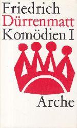 Dürrenmatt, Friedrich  Drei (3) Bände Komödien.,Band 1: Komödien I. Band 2: Komödien II und frühe Stücke, 1963, 429 Seiten. Band 3: Komödien III, 1970, 427 Seiten.
