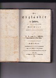 Archenholz, J. W. von.  2 Bände komplett (Erstes bis neuntes Buch) Die Engländer in Indien. Nach Orme.,Erster und zweiter Band. Nebst einer Landkarte von Indostan.