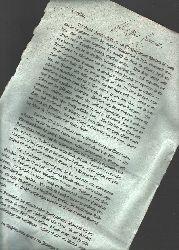 """.  """"ca. A4 einseitig bedrucktes Blatt über die Feuersbrunst in Friedrichsham in Finnland und einen Aufruf zur Unterstützung  ca. 1809"""""""