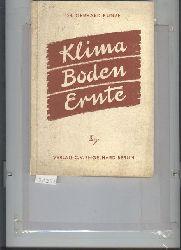 """""""Kunze Dr. Gerhard""""  """"Klima Boden Ernte"""""""