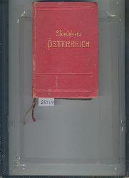"""""""K. Baedeker (Baedeker Reiseführer)""""  """"Österreich  Handbuch für Reisende"""""""