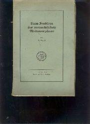 """""""A. Paul""""  """"Zum Problem der menschlichen Metamorphose (Rassenfrage)"""""""