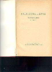 """"""""""""""".""""""""""""  """"Baltische Hefte 4. und 5. Jahrgang  Vierteljahresschrift, pro Jahrgang 4 Hefte"""""""