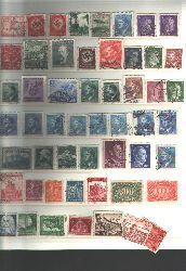 Briefmarken  53 Originalbriefmarken aus dem Dritten reich, gestempelt hinter Schutzfolie, nicht aufgeklebt!