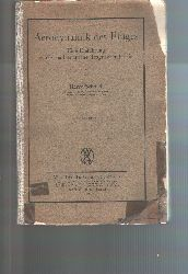 Harry Schmidt  Aerodynamik des Fluges  Eine Einführung in die mathematische Tragflächentheorie.