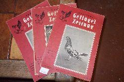 """"""".""""  Deutsche Geflügelzeitung  Heft 20 1952 und Heft 9,11 1953"""