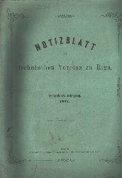 """"""""""""""".""""""""""""  """"Notizblatt des technischen Vereins zu Riga  Dreizehnter Jahrgang"""""""