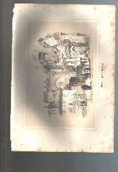 """"""".""""  Der maurische Hafen in Granada    lithographierte getönte Tafel"""