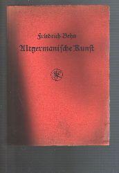 Prof. Behn  Altgermanische Kunst