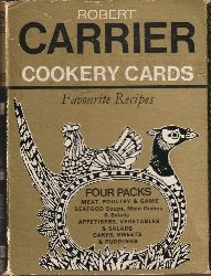 Carrier, Robert  Cookery Cards. Favourite Recipes. Four Packs. Meat, Poultry & Game; Seafood Soups, Main Dishes & Salads; Appetisers, Vegetables & Salads; Cakes, Sweets & Puddings.