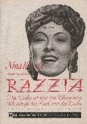 Eisbrenner, Werner (Musik) / Schwenn-Beckmann (Worte)  Nina Konsta singt aus dem DEFA-Film Razzia: Die Liebe ist wie ein Chanson / Ich singe ein Lied von der Liebe.